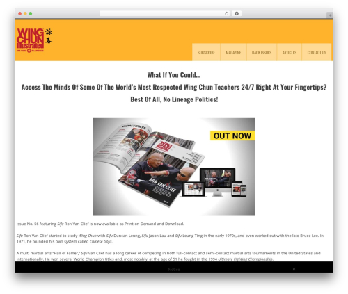 YellowProject Multipurpose Retina WP Theme newspaper WordPress theme - wingchunillustrated.com