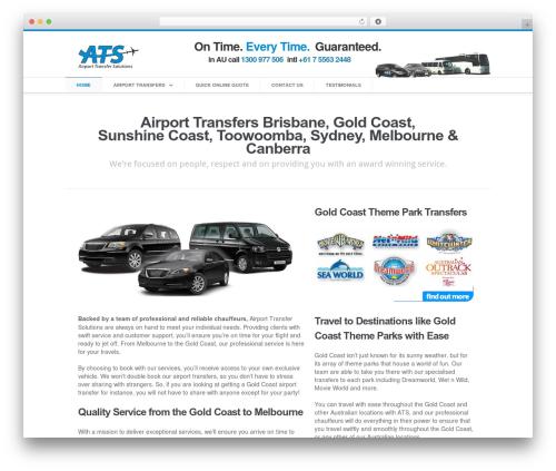 Aegaeus WordPress theme - airporttransfersolutions.com