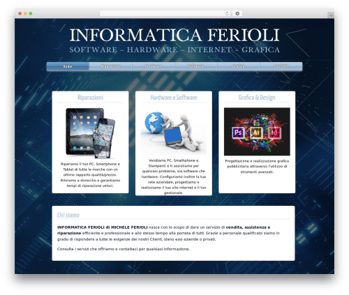 Gridiculous free website theme - informaticaferioli.com