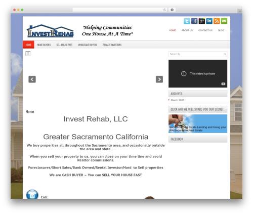 iBiz WordPress page template - investrehab.com