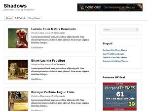 Shadows WordPress Theme WordPress template