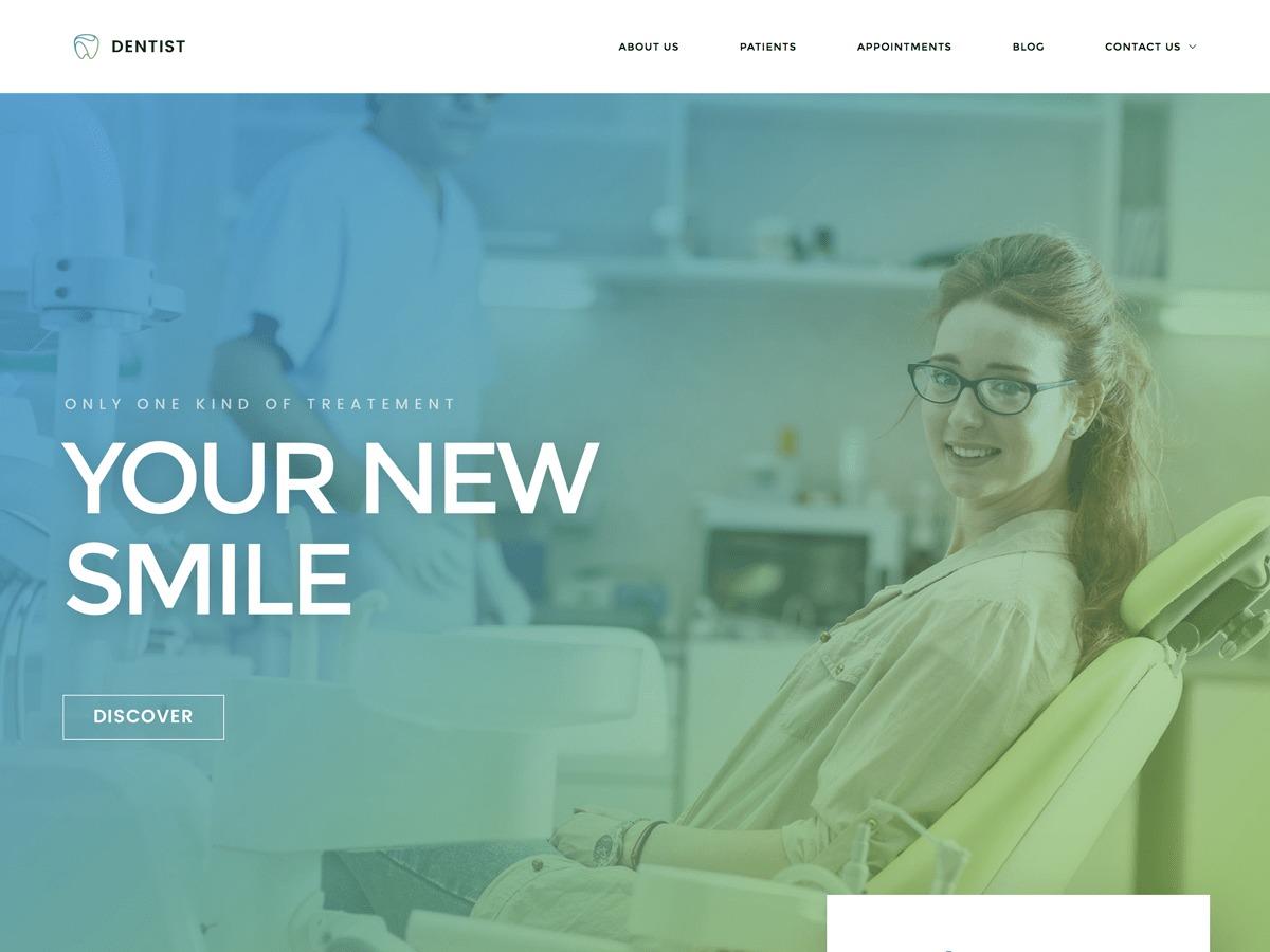 WordPress template Dentist WP Child