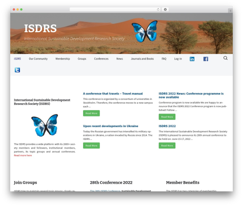 WordPress theme 2013 Blue - isdrs.org