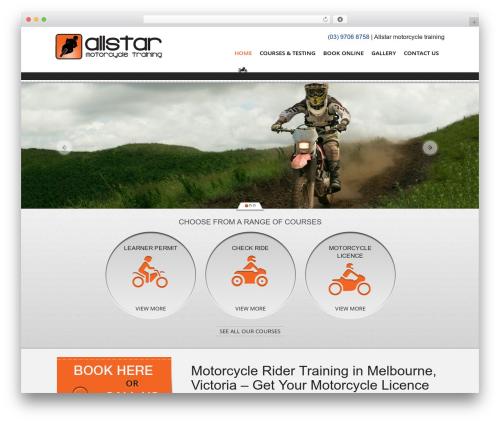 AllStar theme WordPress - allstarmotorcycletraining.com.au