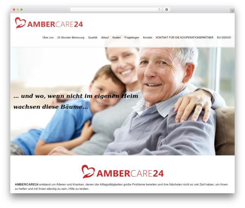 Best WordPress theme Klasik - ambercare24.de