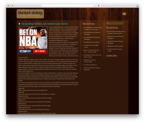 Dark Wood template WordPress - imagineamillion.com