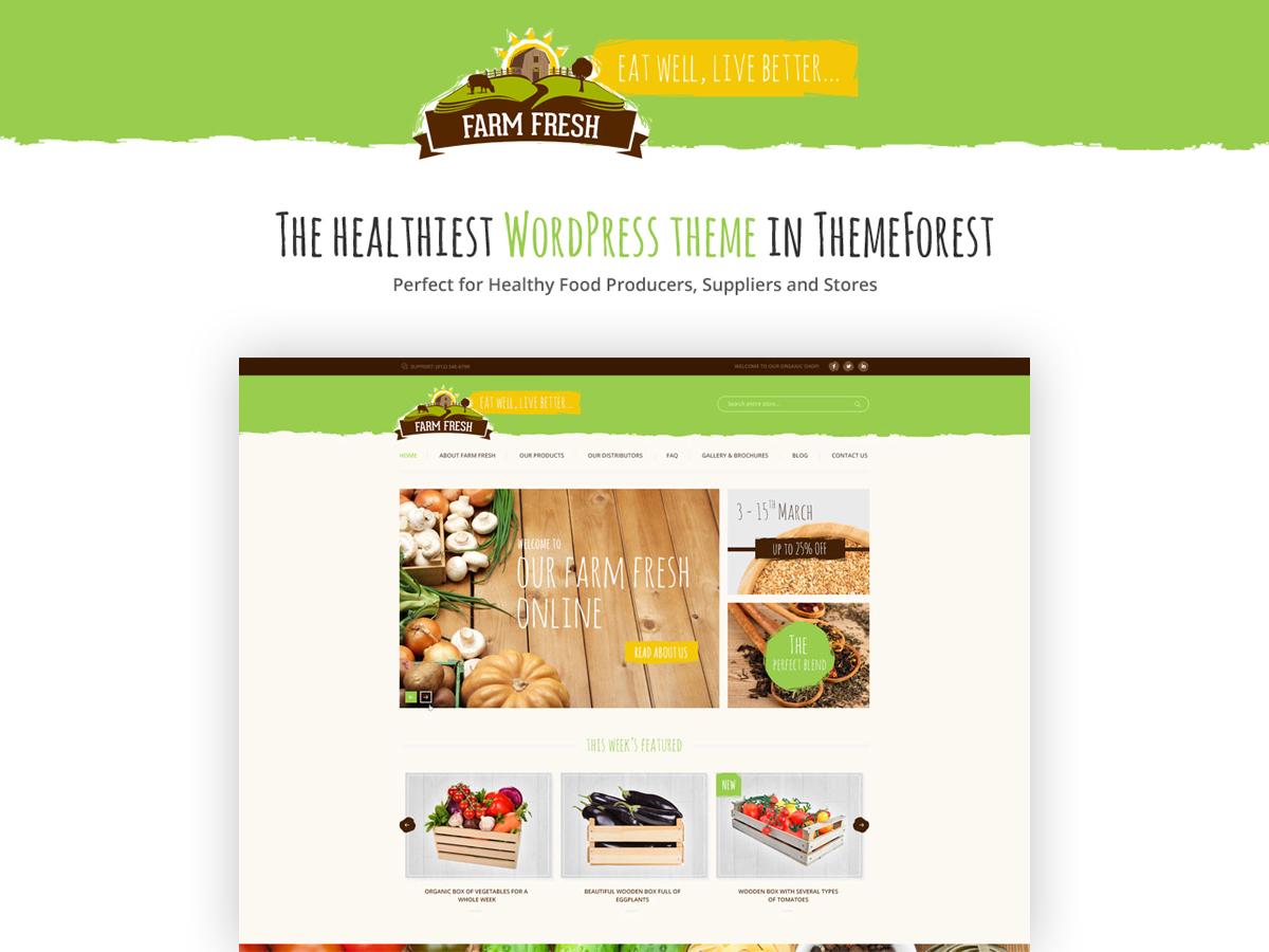 FarmFreshTheme template WordPress