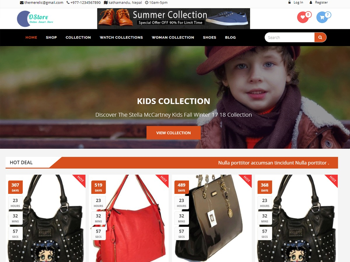 oStore free WordPress theme