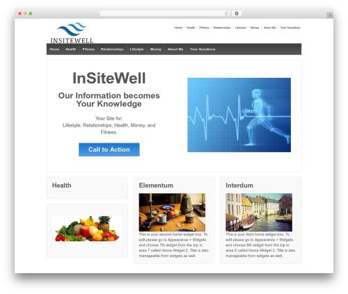 Responsive free WordPress theme - insitewell.com