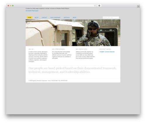 Revival top WordPress theme - ingenuity.aero