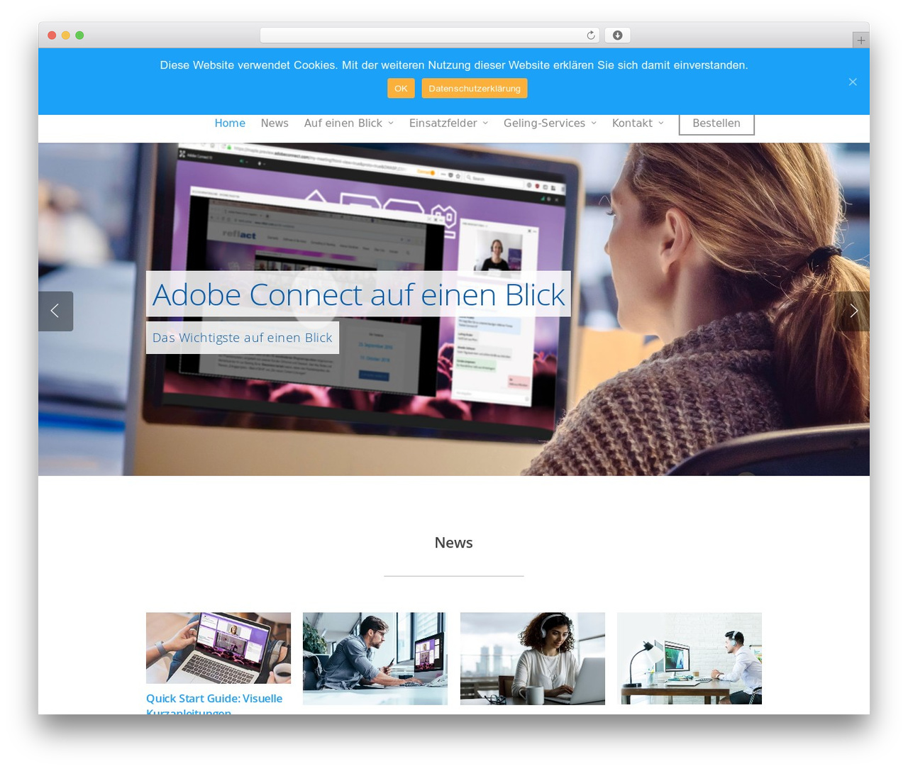 Salient WordPress theme - adobeconnect.eu