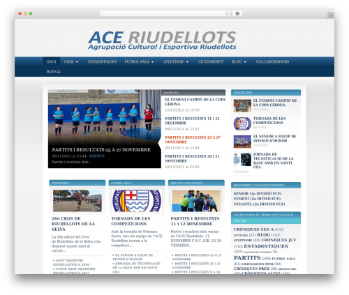 SportPress WordPress theme design - aceriudellots.net