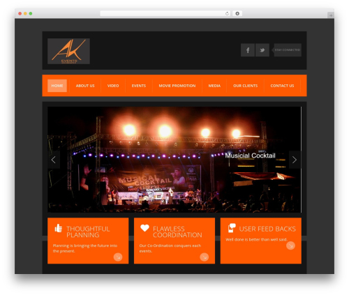 Template WordPress K-BOOM - akevents.in