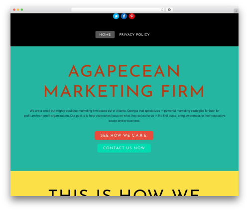 Themify Flat WordPress template for business - agapecean.com