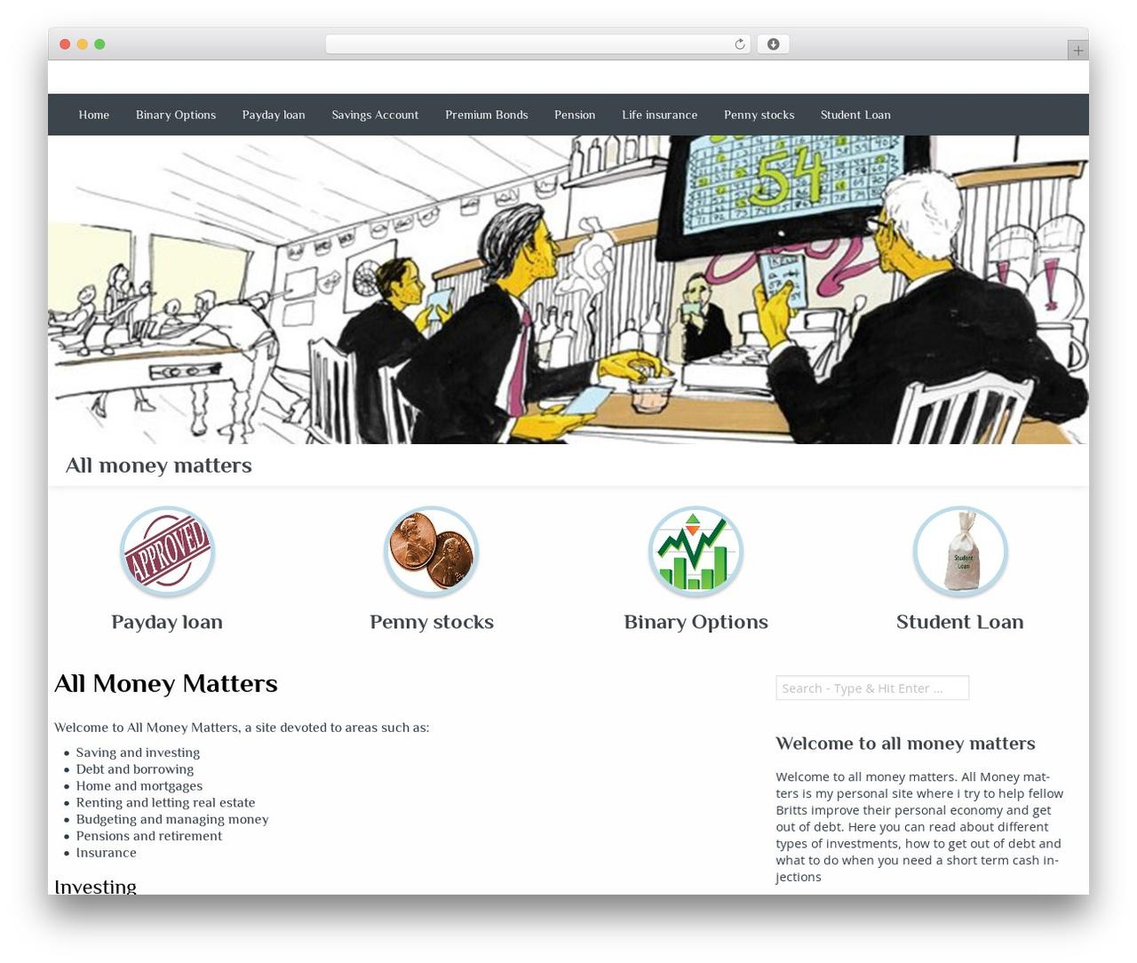WordPress theme Almasi - allmoneymatters.org.uk