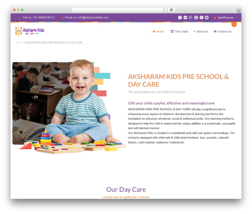 WordPress theme Peachclub - aksharamkids.com