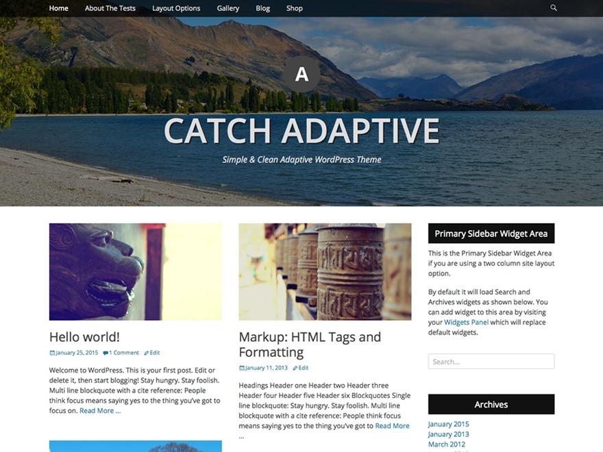 WP theme Catch Adaptive Child