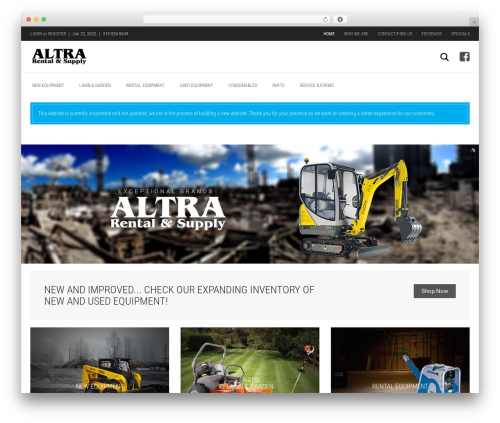 Aurum WordPress theme - altrarental.com