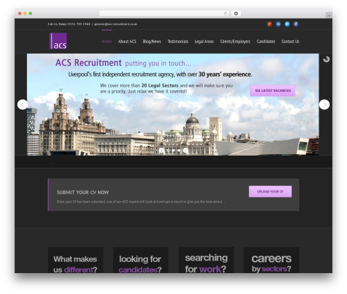 Avada WordPress theme design - acs-recruitment.co.uk