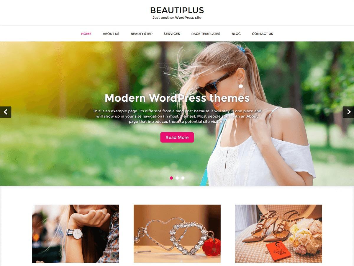 Beautiplus Pro WordPress restaurant theme