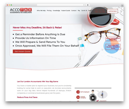 Bridge WordPress template for business - accotax.co.uk
