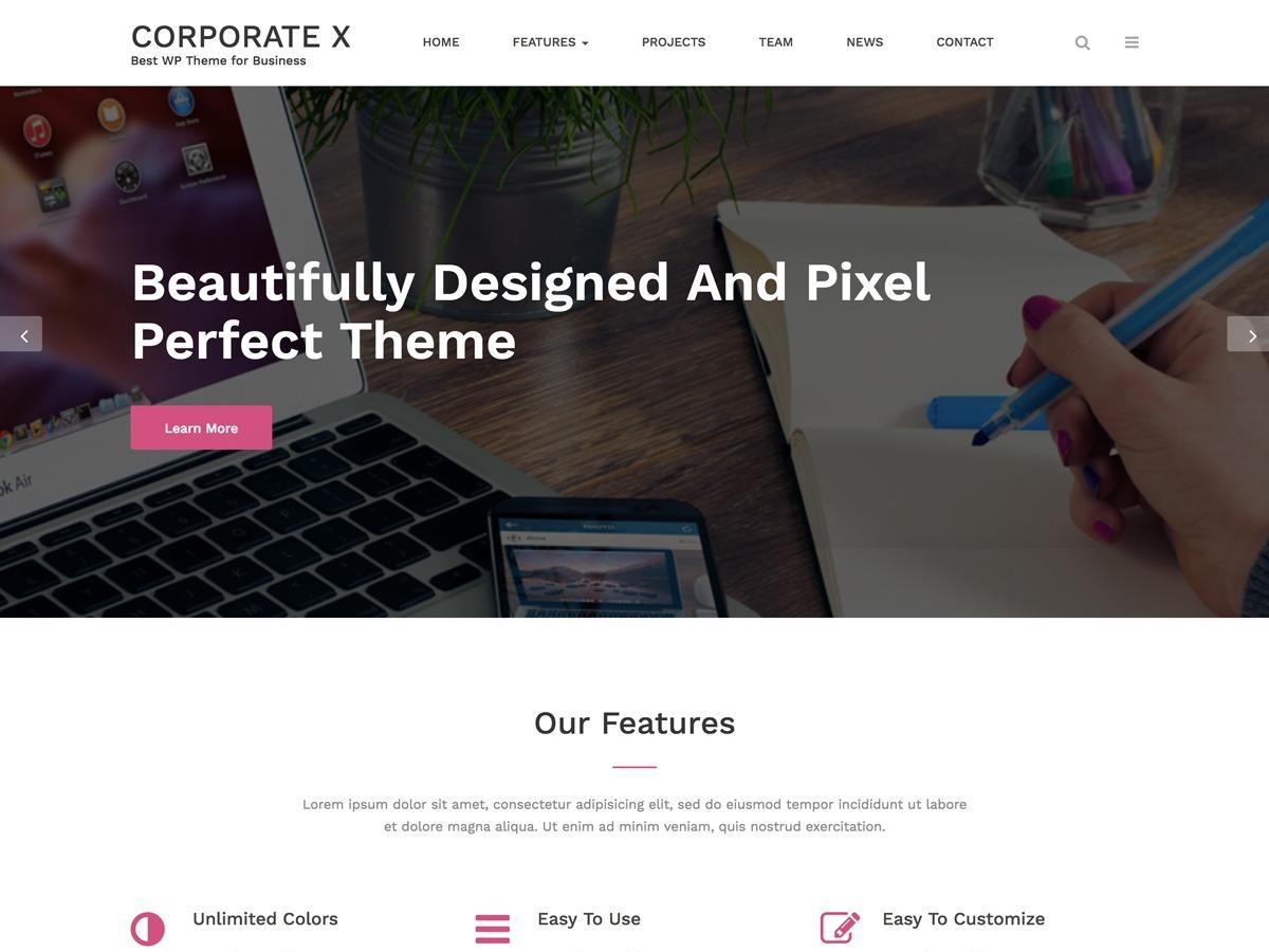Corporate X personal WordPress theme