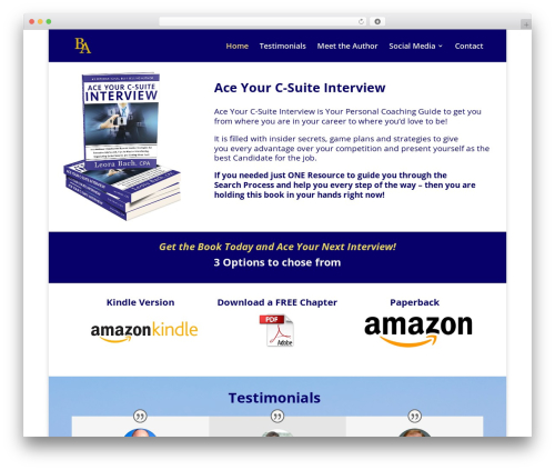 Divi WordPress theme - aceyourinterviewbook.com