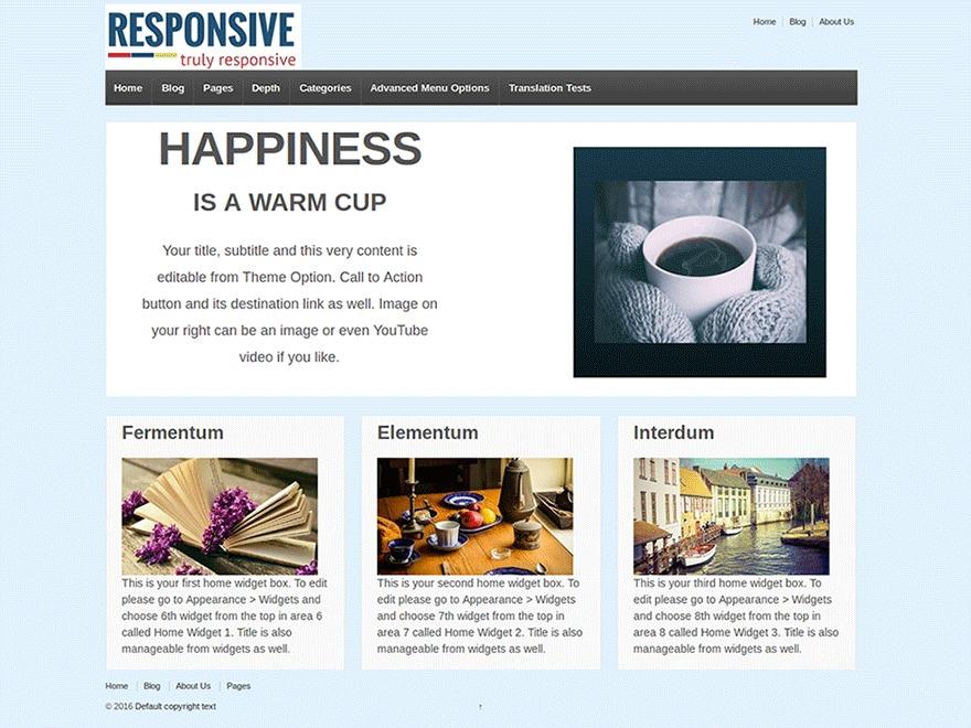 Responsive2 best WooCommerce theme