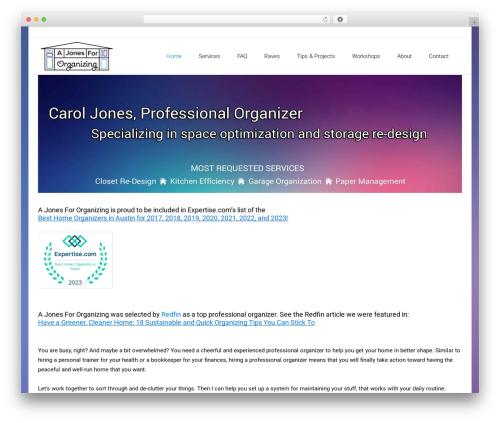 Satellite7 best WordPress theme - ajonesfororganizing.com