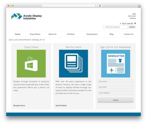 SmartShop WordPress ecommerce theme - acrylicdisplays.com.au