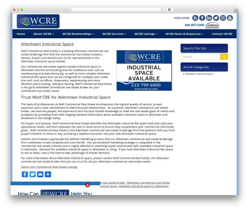 VLM template WordPress - allentownindustrialspace.com