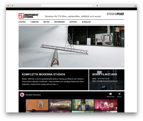 WordPress template BLANK Theme - independentagency.se