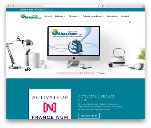 WordPress theme Divi - abacacom.com