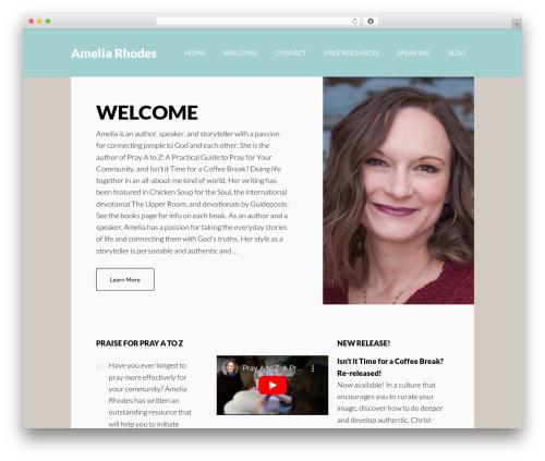 Author Pro template WordPress - ameliarhodes.com