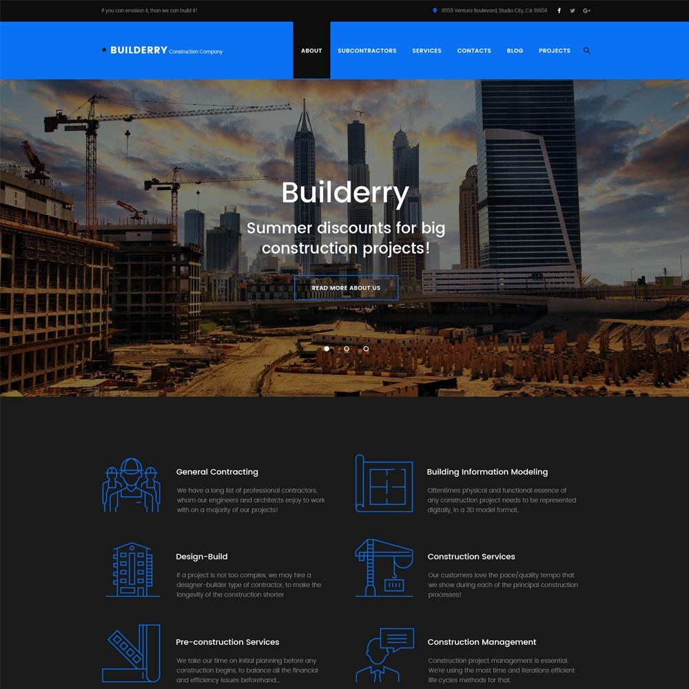 Builderry WordPress theme