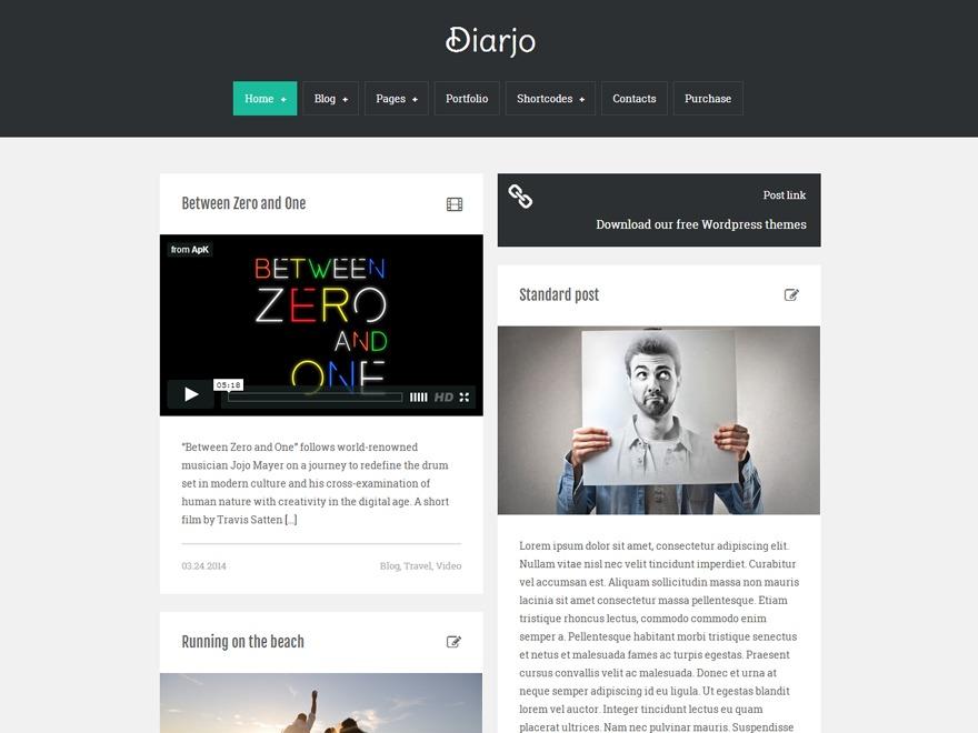 Diarjo best portfolio WordPress theme