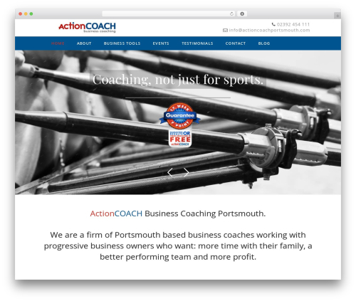 Genesis WordPress template for business - actioncoachportsmouth.com