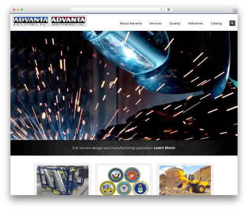 Inceptio top WordPress theme - advantaindustries.com