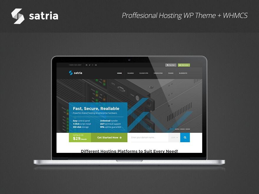 Satria WordPress theme