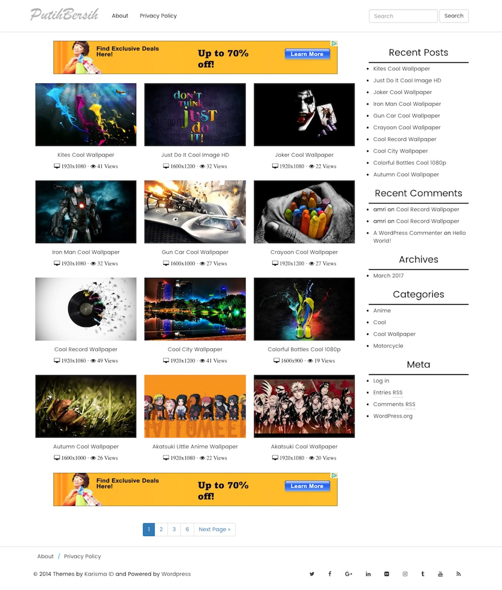 Theme WordPress Putih Bersih