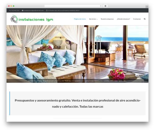 Ultra free WP theme - instalacioneslgm.es