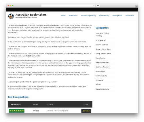 VegasHero Sports Betting Theme theme WordPress - australianbookmakers.com