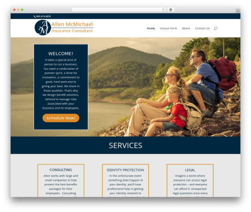 WordPress template Divi - allenmcmichael.com