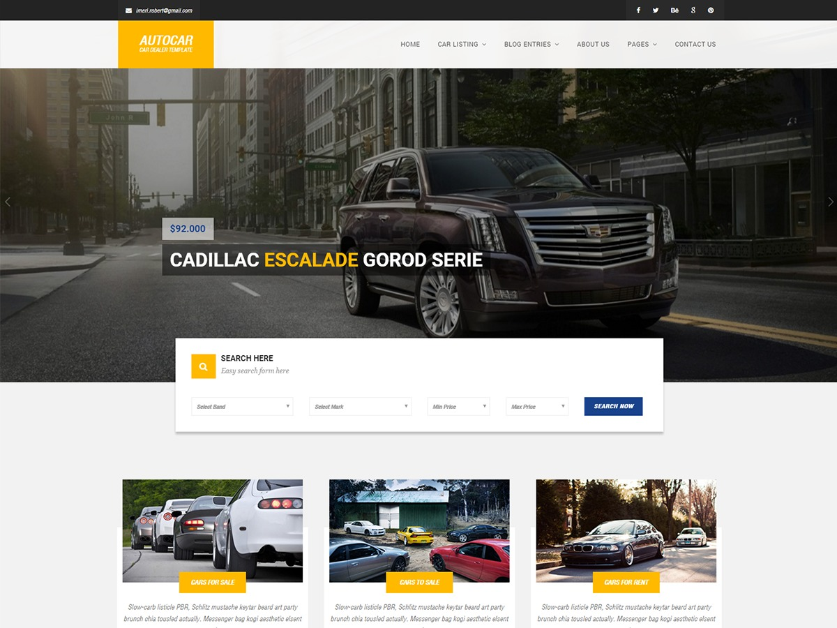 autocar personal blog WordPress theme