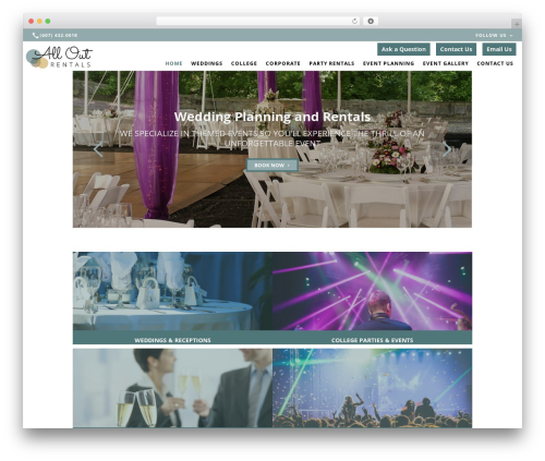 Beacon Theme WordPress wedding theme - alloutrentals.com