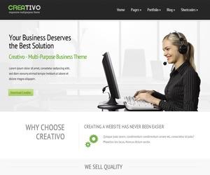 Creativo 1.0 WordPress website template