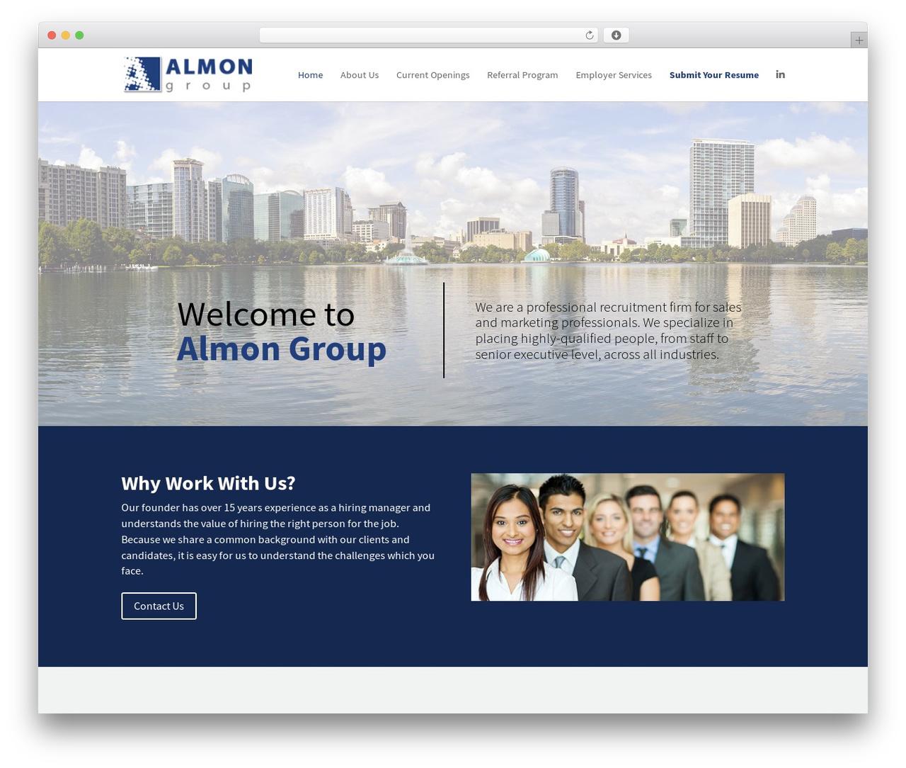 Divi business WordPress theme - almongroup.com