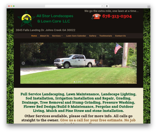 Divi landscaping WordPress theme - allstarscapes.com
