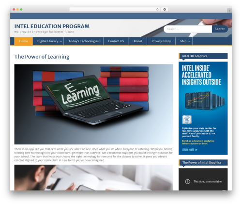 Education Hub WordPress page template - intel-lehren.net