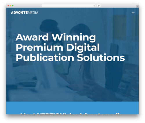 magazine WordPress news template - advontemedia.com
